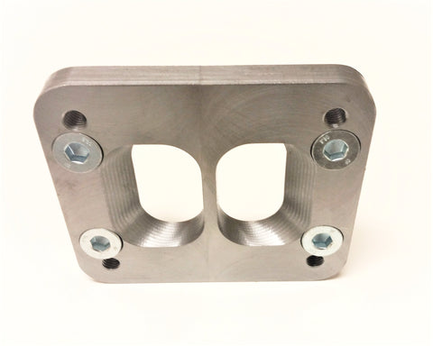 T4 - T3 Counter-bored Divided Turbo Flange Adapter Plate for Cummins Manifold