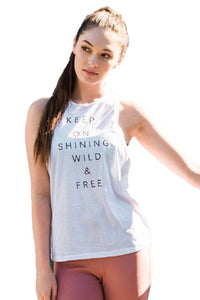Keep on Shining Tank Top White by IVETH