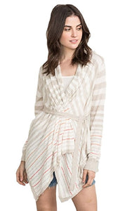 Stripe Open Drape Cardigan by IVETH