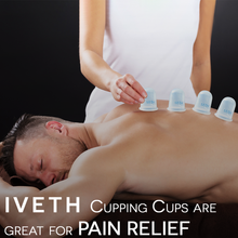 Silicone massage cupping cup,set of 4 for use on different body parts.
