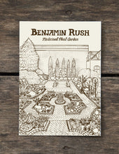Benjamin Rush Medicinal Plant Garden - 5 x 7 inch Illustrated postcard : Mutter Museum/ College of Physicians