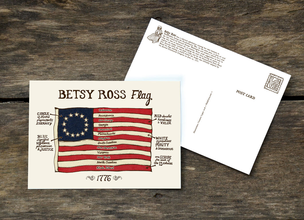 Betsy Ross Flag Philadelphia Postcard