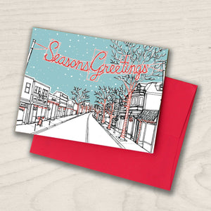 Collingswood, NJ Holiday Card - Season's Greetings on Haddon Ave