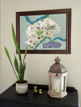 Collingswood History Map Framed