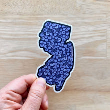 NJ Blueberries Sticker - New Jersey State Decal  - Weather Resistant Vinyl