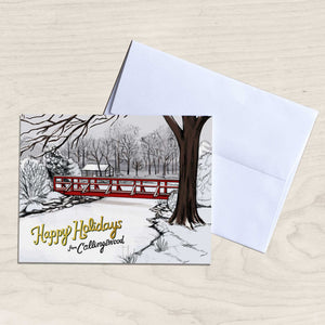 Happy Holidays from Collingswood, NJ - Knight Park Bridge Holiday card