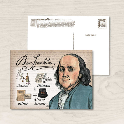 Ben Franklin Philadelphia Postcard / Art print
