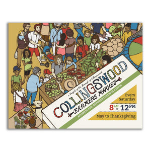 Collingswood Farmer's Market Art Print - 11 x 14 inch wall art