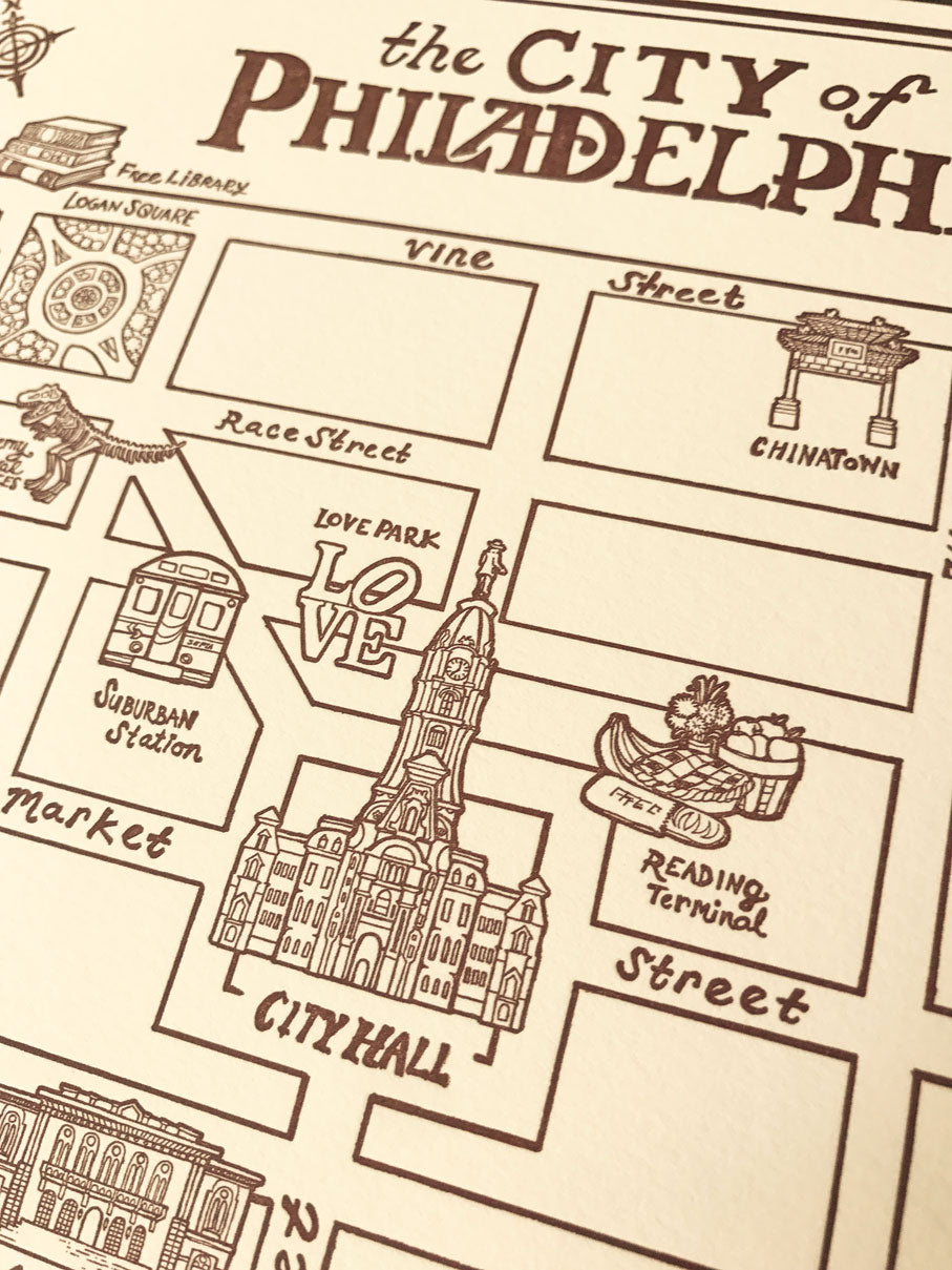 picture regarding Printable Maps of Philadelphia referred to as Town of Philadelphia Ancient Artwork Map - 11 x 14 inch