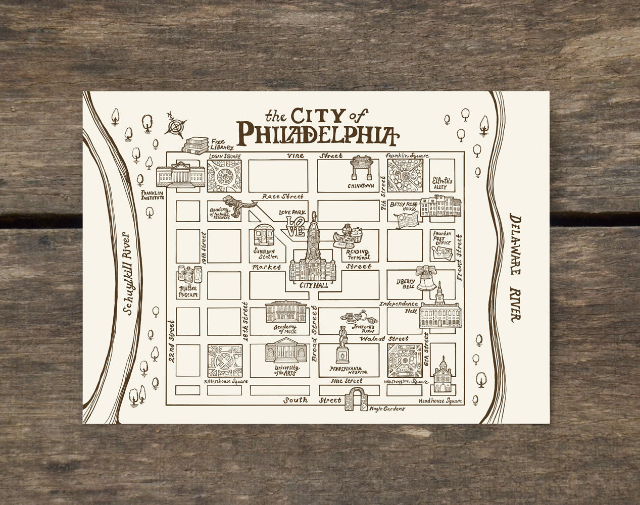Philadelphia Vintage Map Postcard - Center City Neighborhood ... on map of delaware river 1776, map of american colonies 1776, map of virginia 1776, map of bucks county 1776, map of pennsylvania in 1700s, map of manhattan 1776, map of united states 1776, map of long island 1776, map of colonies in 1776, map of texas 1776, map of the mid atlantic colonies, map of america in 1776, map of dorchester heights 1776, map of annapolis 1776, map of quebec city 1776, map of easton 1776, map of california 1776, map of pennsylvania in 1776, map of trenton 1776, map of alaska 1776,