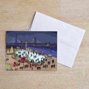 Winterfest at Penn's Landing - Philadelphia Holiday Card