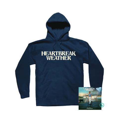 Heartbreak Weather Navy Pullover Hoodie + Digital Album