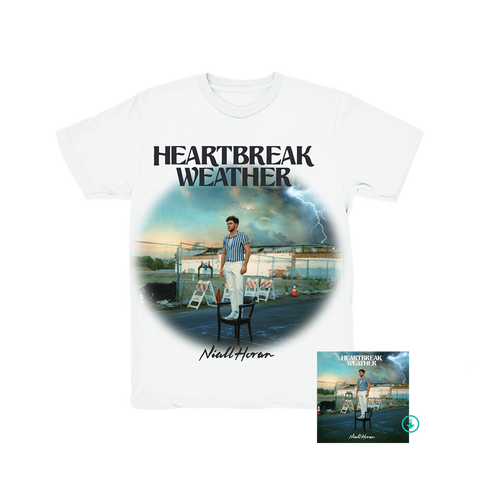 Heartbreak Weather White T-Shirt + Digital Album