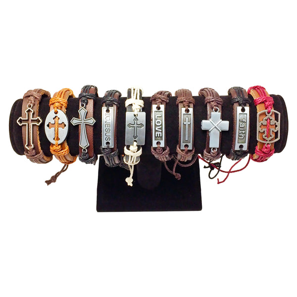 Assorted Men's Christian Bracelets - 10 pack