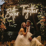 Better Together  LED Neon Sign Custom Made Wall Lights Party Wedding Shop Window Restaurant Birthday Decoration