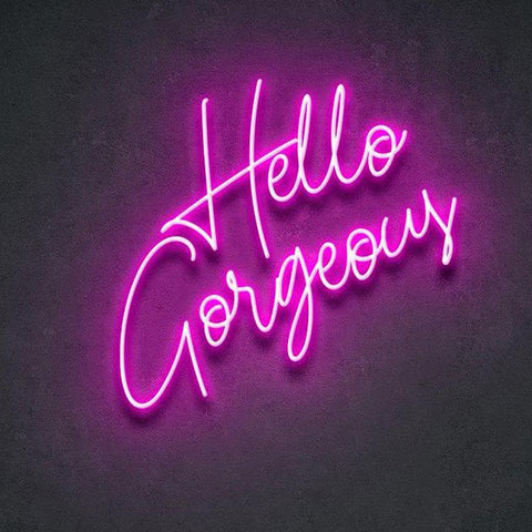 Custom Made Hello Gorgeous Neon Sign Wall Lights Party Wedding