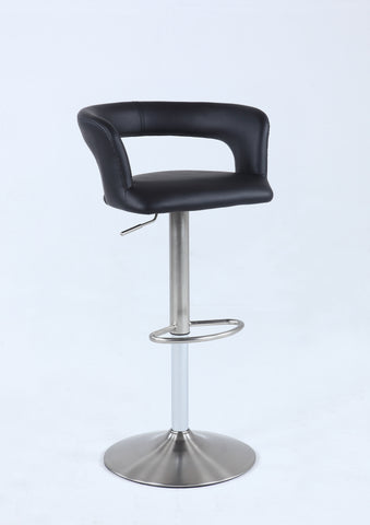 Chintaly 0131-AS-BLK Pneumatic low open back swivel stool