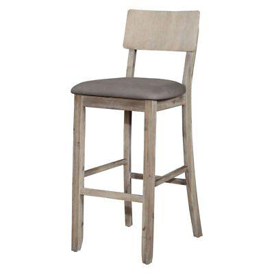 Linon 017102GWSH01U Jordan Gray Wash Bar Stool