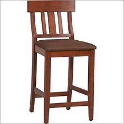 Linon 01849DKCHY-01-KD-U Torino Collection Slat Back Bar Stool