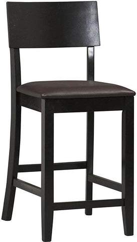 Linon 01854BLK-01-KD-U Torino Contemporary Counter Stool