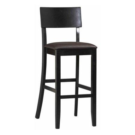 Linon 01855BLK-01-KD-U Torino Contemporary Bar Stool