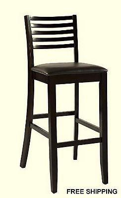 Linon 01864ESP-01-KD-U Triena Collection Ladder Bar Stool 30