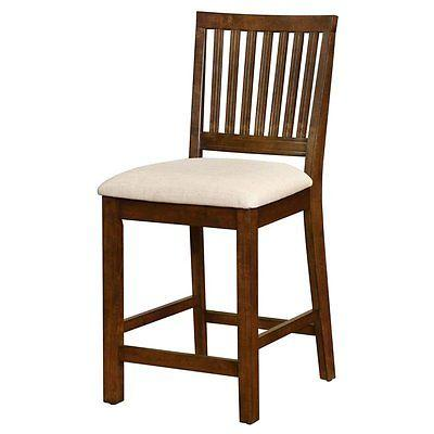Linon 018731wal01 Barrett Slat Back Counter Stool