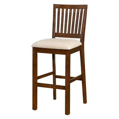Linon 018732WAL01 Barrett Slat Back Bar Stool