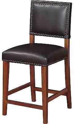 Linon 0232BLK01U Brook Counter Stool Black