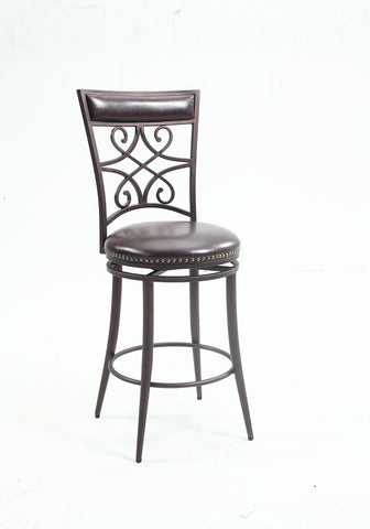 Chintaly 0233-BS Scroll back bar stool