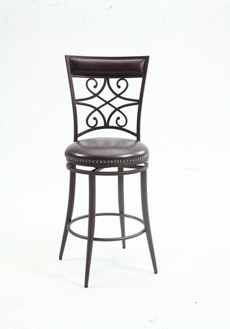 Chintaly 0233-CS Scroll back counter stool
