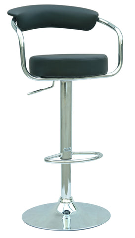 Chintaly 0326-AS-BLK Pneumatic Gas Lift Adjustable Height Swivel Stool