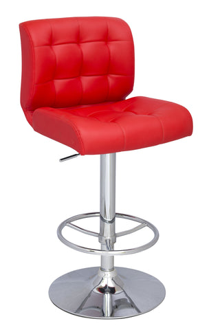 Chintaly 0361-AS-RED Stitched Seat&Back Pneumatic Stool