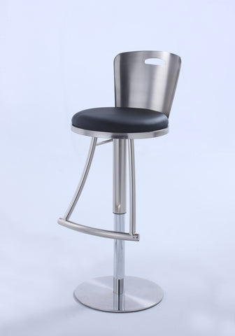 Chintaly 0406-AS Metal-Back Adjustable Height Stool