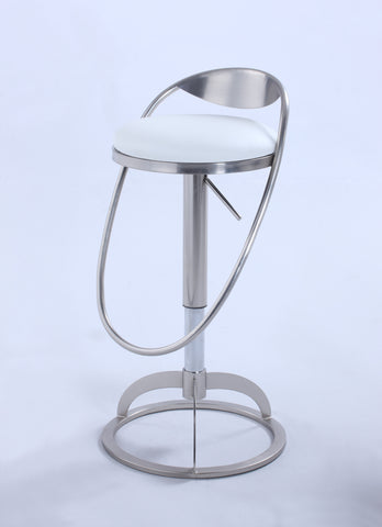 "Chintaly 0416-AS ""O"" Metal-Back Adjustable Height Stool"