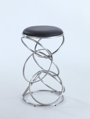Chintaly 0545-CS-BLK Interlocking Multi-Ring Counter Stool
