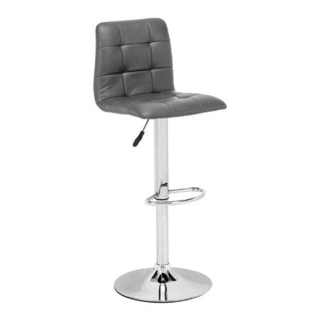 Zuo Modern 301354 Oxygen Bar Chair Color Gray Chromed Steel Finish