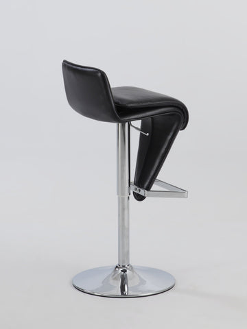 Chintaly 0630-AS-BLK Low Back Pneumatic Stool