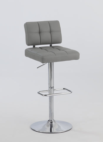Chintaly 0636-AS-GRY Tufted Back Pneumatic Stool
