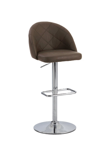 Chintaly 0669-AS-BRW Diamond Pattern Pneumatic Stool