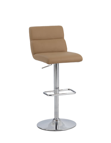 Chintaly 0677-AS-PTY Ribbed Pattern Back Pneumatic Stool