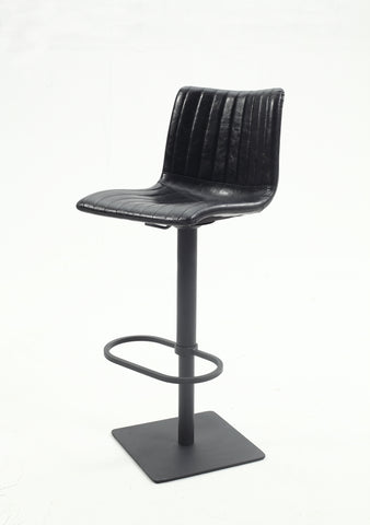 Chintaly 0879-AS-BLK Black vintage style pneumatic stool