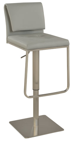 Chintaly 0893-AS-GRY Contemporary Pneumatic Stool