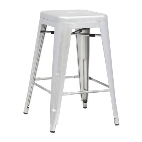 Fine Mod Imports FMI10015-25-silver Talix Counter Stool, Silver - Peazz Furniture - 1