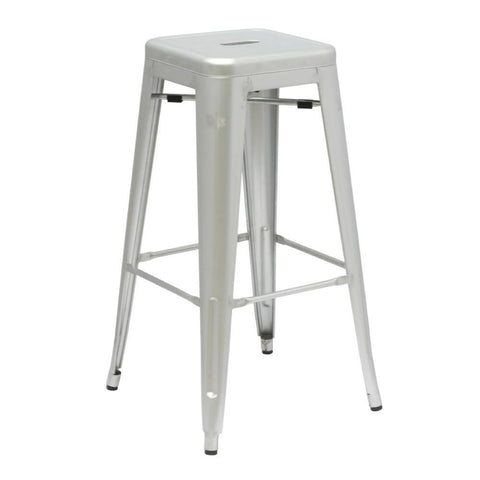 Fine Mod Imports FMI10015-30-silver Talix Bar Stool, Silver - Peazz Furniture - 1