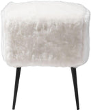 Zuo Modern 100192 Fuzz Stool Color White Painted Steel Finish - BarstoolDirect.com - 2