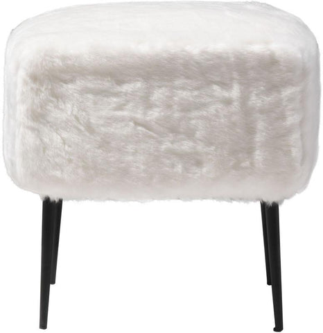 Zuo Modern 100192 Fuzz Stool Color White Painted Steel Finish - BarstoolDirect.com - 3