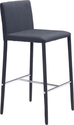 Zuo Modern 100244 Confidence Counter Chair Color Black Steel Finish - Set of 2 - BarstoolDirect.com - 1