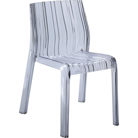 Fine Mod Imports FMI10029-clear Stripe Dining Chair, Clear - Peazz.com