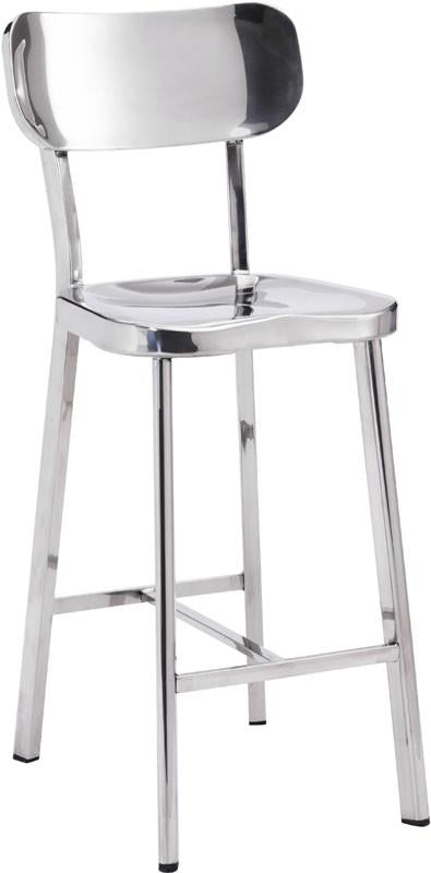 Counter Chair Color Polished Stainless Steel Polished 17621 Product Photo